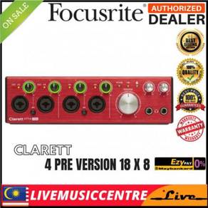 Focusrite Clarett 4Pre 18X8 Thunderbolt Interface