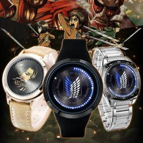Anime LED watches - attack of titan