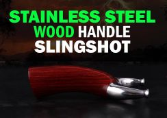 Thunder Stainless Steel Wood Slingshot | Lastik