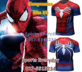 Spiderman Slim Fit Compression Shirt Red Short 2