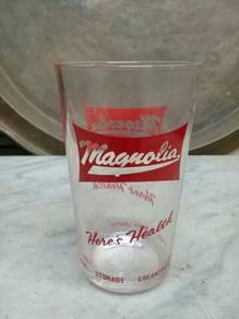 119 Gelas magnolia antik vintage not coke pepsi A