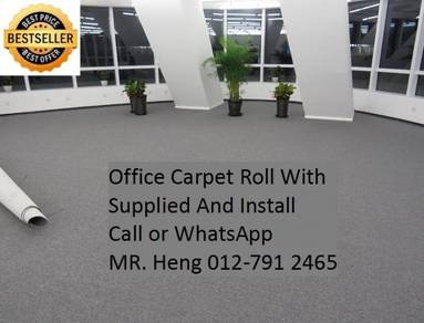 Classic Plain Design Carpet Roll with Install 80PA