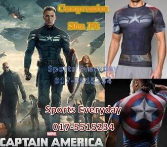 Captain America Slim Fit Compression Short Sleeves