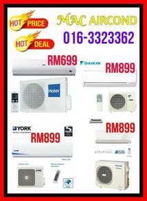 Damansara Aircond Aircon Brand New 1.0HP 699