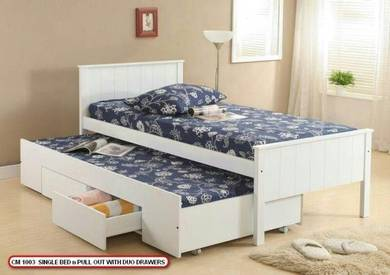 Single bed with pull out (CM 1003) 25/04