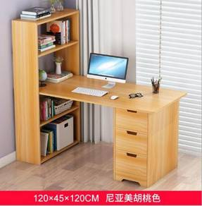 Brown drawer laci table meja ikea office work 1