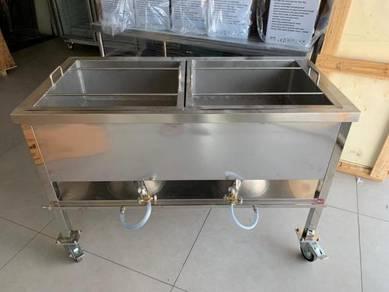 Gas Deep Fryer 60Liter(DapurGoreng)Stainless Steel