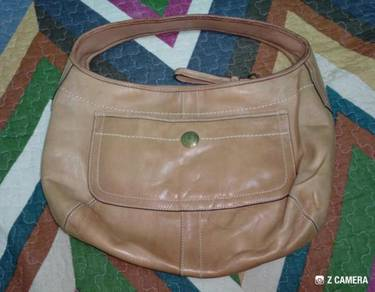 Hobo Bag Authentic COACH Tan Leather