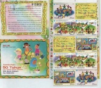 Mint Stamp Booklet World Children Day Msia 2003