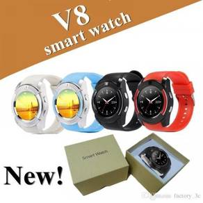 New V8 Smart Watch Touch Screen (Sim & Sd Card)
