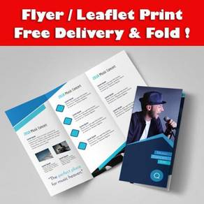 A5 Flyer - Leaflet with free fold & delivery