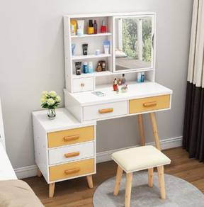 WHITE Dressing make up TABLE drawer cosmetic 3