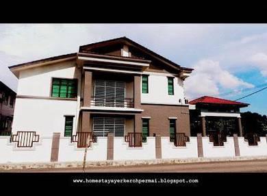 Ayer Keroh: Rumah Corner Lot Untuk Di Sewa (dahulunya homestay)_muslim