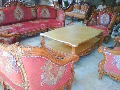 Red jati sofas