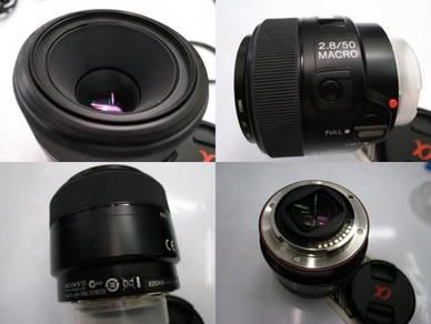 Sony α SAL50M28/AE 50mm f/2.8 Macro Prime Lens