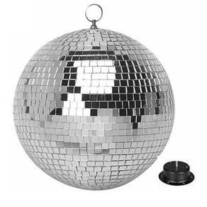 Glass rotating disco dj mirror ball