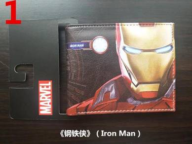 Marvel Avengers Iron man leather short Wallets