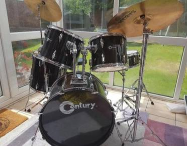 Century Drum Kit 5 Drums, 3 Cymbals & Stool