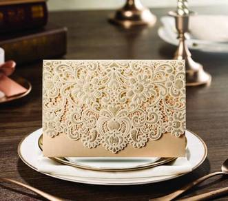 Elegant Ivory Wedding Card