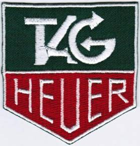 TAG Heuer Badge Iron On Embroidered Badge Patch