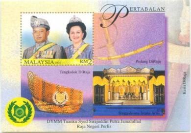 Miniature Sheet Raja Negeri Perlis Malaysia 2001