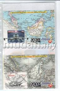 Miniature Sheet Millennium Malaysia 1999 and 2000