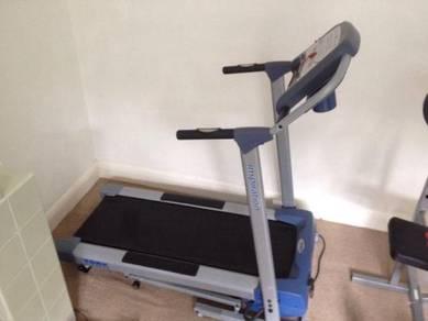 Home gym exercise - treadmill