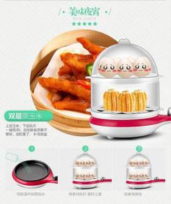 Electric 2 Layer Grill Frying Pan Egg Cooker