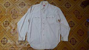 LEVIS Pearl Snap Western Red Tab Size L nike
