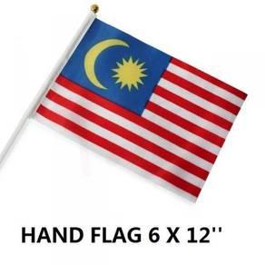 10pcs Malaysia Hand Flag Bendera Malaysia 6x12inch