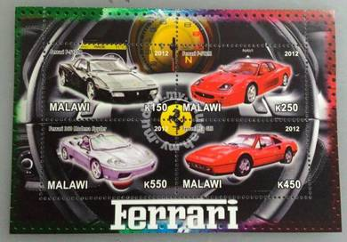 Ferrari miniature sheet