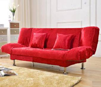 RED sofa double seat 2 seater office home merah 7