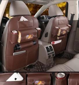 Leather Backseat organizer MOCHA BROWN