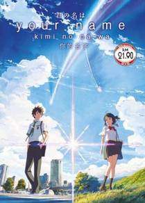 DVD Anime Your Name Kimi No Na Wa Movie