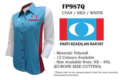 Baju KEMEJA KORPORAT Parti Keadilan Rakyat PKR V3F