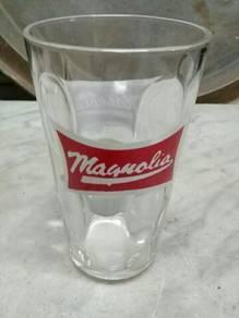 119 Gelas magnolia antik vintage not coke pepsi