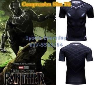 Black Panther Slim Fit Compression Shirt Short