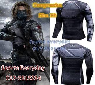 Winter Soldier Slim Fit Compression Shirt Long