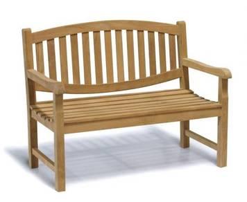 Teak memorial outdoor bench - majesteak
