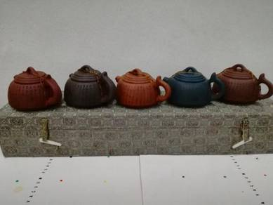 5 pcs Zi Sha Tea Pot