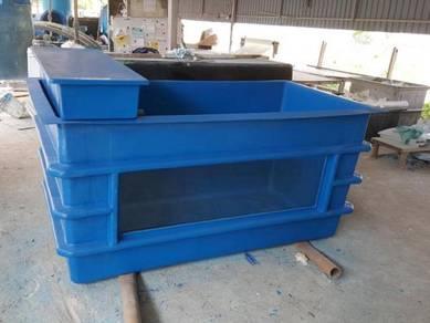 Aquaponic Tank With Glass ( Fiberglass )