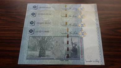 4pcs RM50 ZB,ZC,ZD,ZE 00 Replacement Note