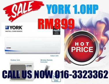 YORK Aircond KL/Selangor/Jln Ampang 1.0hp 899
