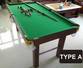EVERGREEN pool table snooker family billiard 1.7 m