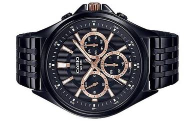 Casio Men Multi Hands Black Watch MTP-E303B-1A2VDF