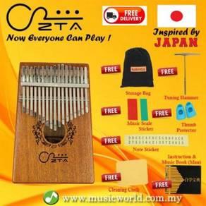 Zta 17 key mahogany kalimba thumb piano finger