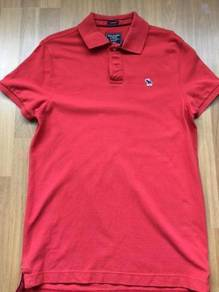 ABERCROMBIE & FITCH red polo BRAND NEW sz M