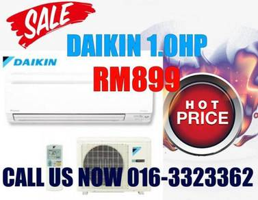 Brand New Aircond Daikin 1.0HP 899