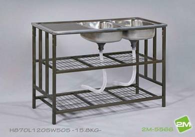 2M-5566 Double Stainless/s Sink Rack