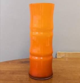 Pasu orange crystal vase